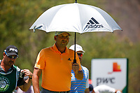 Sergio Garcia (ESP) keeping the sun off during the 3rd round at the Nedbank Golf Challenge hosted by Gary Player,  Gary Player country Club, Sun City, Rustenburg, South Africa. 10/11/2018 <br /> Picture: Golffile | Tyrone Winfield<br /> <br /> <br /> All photo usage must carry mandatory copyright credit (&copy; Golffile | Tyrone Winfield)