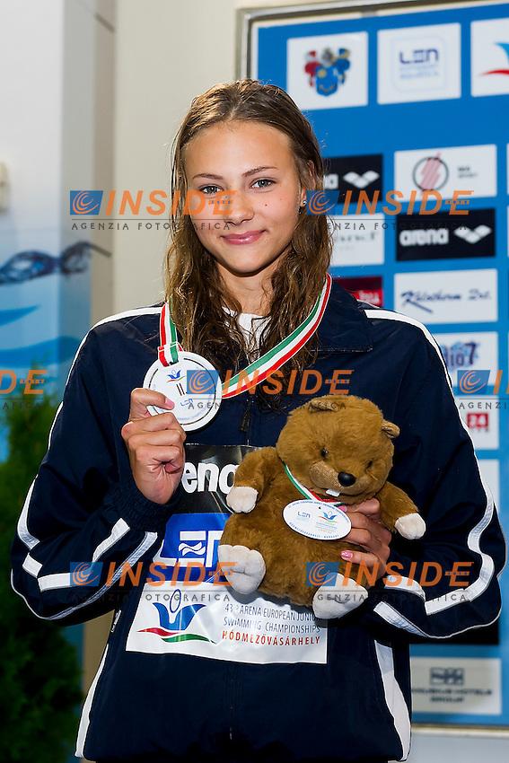 Seemanova Barbora CZE<br /> 100 Freestyle Women Final Silver Medal<br /> LEN 43rd Arena European Junior Swimming Championships<br /> Hodmezovasarhely, Hungary <br /> Day02 07-07-2016<br /> Photo Andrea Masini/Deepbluemedia/Insidefoto