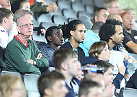 Swansea city fans during the Carabao Cup Second Round match between MK Dons and Swansea City at StadiumMK, Milton Keynes, England, UK. 22 August 2017