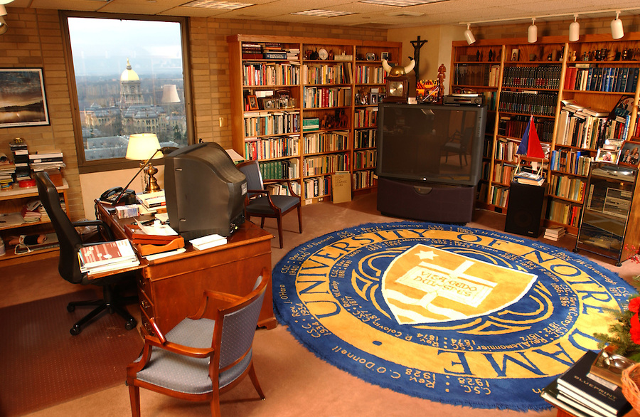 Fr. Hesburgh's office on the 13th floor of Hesburgh Library