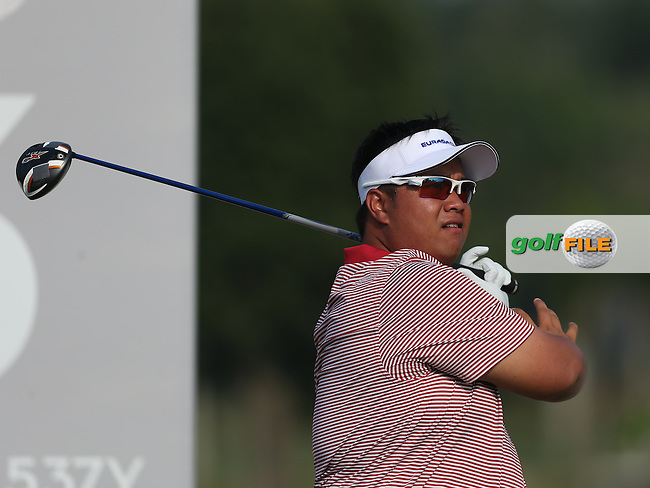 Team Asia's Kiradech Aphibarnrat (THA) during the first day FourBall matches at the 2014 Eurasia Cup presented by DRB-Hicom, at the Glenmarie Golf & Country Club, Kuala Lumpur, Malaysia. Picture:  David Lloyd / www.golffile.ie