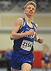 Kal Lewis of Shelter Island cruises to victory in the 1,600 meter run during the Suffolk County varsity boys track and field small schools championship at Suffolk Community College Grant Campus in Brentwood on Friday, Feb. 2, 2018. He finished with a time of 4:28.99.