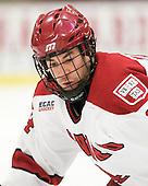 Peter Starrett (Harvard - 14) - The Harvard University Crimson defeated the visiting Clarkson University Golden Knights 3-2 on Harvard's senior night on Saturday, February 25, 2012, at Bright Hockey Center in Cambridge, Massachusetts.