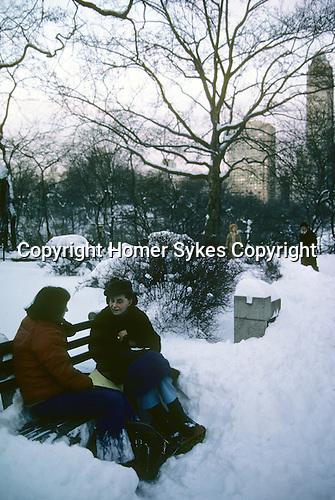 New York Manhattan, Snow.   Feb 1979