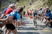 Guillaume Martin (FRA/Wanty-Gobert) up the Tourmalet (HC/2115m/19km @7.4%)<br /> <br /> Stage 14: Tarbes to Tourmalet (117km)<br /> 106th Tour de France 2019 (2.UWT)<br /> <br /> ©kramon