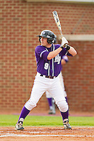 Dane McDermott #9 of the High Point Panthers at bat against the VMI Keydets at Willard Stadium on March 31, 2012 in High Point, North Carolina.  The Panthers defeated the Keydets 2-0.  (Brian Westerholt/Four Seam Images)