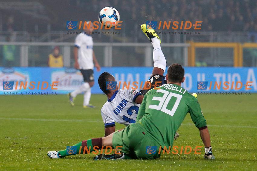 Il gol di Fredy Guarin Inter su rovesciata 1-1 <br /> Goal celebration <br /> Torino 20-10-2013<br /> Stadio Olimpico <br /> Football Calcio 2013/2014 Serie A <br /> Torino - Inter<br /> Foto Marco Bertorello Insidefoto
