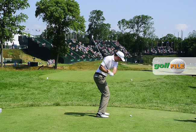 Martin Laird (SCO) tees off the 17th tee during Wednesday's Practice Day for the 113th U.S.Open National Championship held at Merion Golf Club, Ardmore, Philadelphia, Pennsylvania. <br /> (Picture: Eoin Clarke www.golffile.ie)