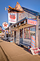 Route 66 Gift Shop in Seligman Ariizona, home of Angel Delgadillo, the town barber, referred to as the Mayor of Route 66.  After the town was bypassed by Intersate 40, he helped to form the Historic Route 66 Association of Arizona.