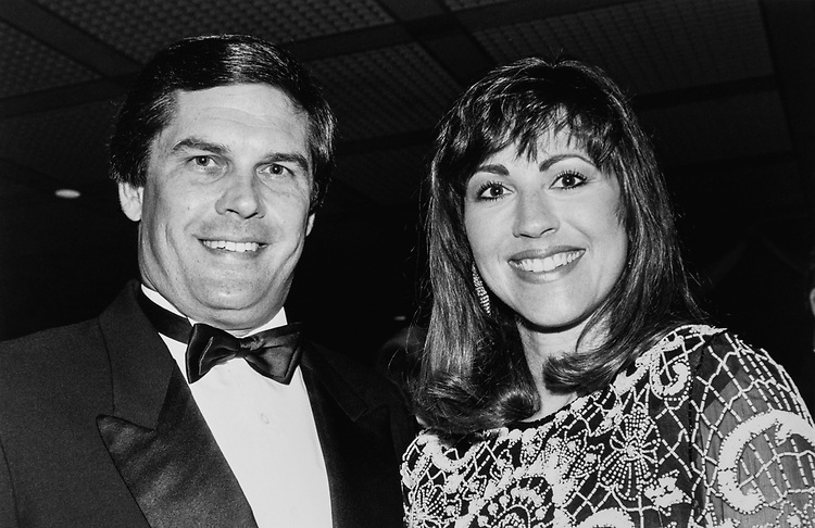 Rep. Jack Fields, R-Tex., with wife Lynn Fields at National Republican Congressional Committee, on June 21, 1990. (Photo by Laura Patterson/CQ Roll Call via Getty Images)