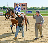 Fray Martinez & Jonathan Sheppard after Principessa Ava wins at Delaware Park on 9/20/14