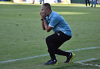 MONTERÍA - COLOMBIA, 13-10-2018:Flavio Robatto director técnico de Jaguares de Córdoba. Acción de juego entre los equipos Jaguares de Córdoba y l Atlético Huila  durante partido por la fecha 14 de la Liga Águila II 2018 jugado en el estadio Municipal Jaraguay de Montería . / Flavio Robatto coach of Jaguares of Cordoba.Action game between  Jaguares of Cordoba and Atletico Huila during the match for the date 14 of the Liga Aguila II 2018 played at Municipal Jaraguay Satdium in Monteria City . Photo: VizzorImage /Andrés Felipe López  / Contribuidor.