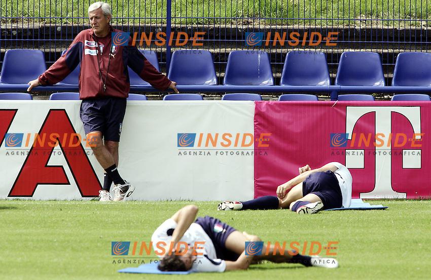 Duisburg, 19/6/2006 World Cup 2006.Italy Training.Allenamento della Nazionale Italiana.Marcello Lippi .Photo: Insidefoto