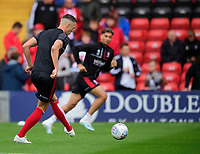 Lincoln City's Jason Shackell during the pre-match warm-up<br /> <br /> Photographer Chris Vaughan/CameraSport<br /> <br /> The Carabao Cup Second Round - Lincoln City v Everton - Wednesday 28th August 2019 - Sincil Bank - Lincoln<br />  <br /> World Copyright © 2019 CameraSport. All rights reserved. 43 Linden Ave. Countesthorpe. Leicester. England. LE8 5PG - Tel: +44 (0) 116 277 4147 - admin@camerasport.com - www.camerasport.com