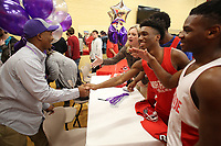 NWA Democrat-Gazette/DAVID GOTTSCHALK Derrick Wise (left) is congratulated after signing a letter of intent to play football Wednesday, February 6, 2019, at Northside High School in Fort Smith.