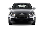 Car photography straight front view of a 2015 KIA Sedona EX 5 Door Minivan Front View