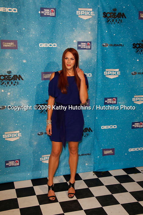 Amanda Righetti.arriving at the  Scream Awards 2009.Greek Theater.Los Angeles,  CA.October 17, 2009.©2009 Kathy Hutchins / Hutchins Photo.