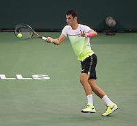BERNARD TOMIC (AUS)<br /> <br /> Tennis - BNP PARIBAS OPEN 2015 - Indian Wells - ATP 1000 - WTA Premier -  Indian Wells Tennis Garden  - United States of America - 2015<br /> &copy; AMN IMAGES