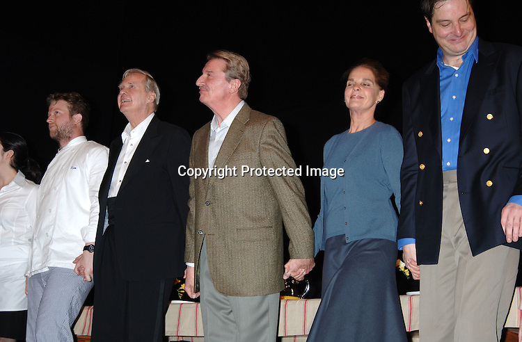 """John Carter, Larry Bryggman, Ali MacGraw and Christopher ..Evan Welch ..at The Broadway opening of """"Festen"""" on April 9, 2006 ..at The Music Box Theatre. The show stars, Ali MacGraw, ..Larry Bryggman, Jeremy Sisto and Julianna Margulies. ..Robin Platzer, Twin Images"""