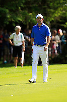Padraig Harrington (IRL) on the 18th hole during Friday's Round 2 of the 2014 Irish Open held at Fota Island Resort, Cork, Ireland. 20th June 2014.<br /> Picture: Eoin Clarke www.golffile.ie