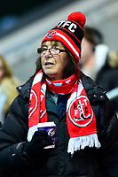 A Fleetwood Town fan enjoys the pre-match atmosphere <br /> <br /> Photographer Richard Martin-Roberts/CameraSport<br /> <br /> The EFL Sky Bet League One - Fleetwood Town v Coventry City - Tuesday 27th November 2018 - Highbury Stadium - Fleetwood<br /> <br /> World Copyright &not;&copy; 2018 CameraSport. All rights reserved. 43 Linden Ave. Countesthorpe. Leicester. England. LE8 5PG - Tel: +44 (0) 116 277 4147 - admin@camerasport.com - www.camerasport.com