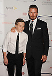wwCENTURY CITY, CA - MAY 20: David Beckham and Brooklyn Beckham arrive at the 27th Anniversary of Sports Spectacular at the Hyatt Regency Century Plaza on May 20, 2012 in Century City, California.