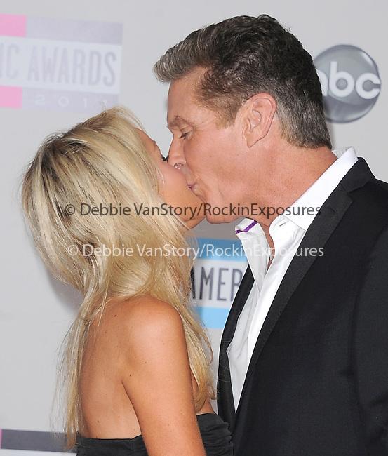 David Hasselhoff and date attends 2011 American Music Awards held at The Nokia Theater Live in Los Angeles, California on November 20,2011                                                                               © 2011 DVS / Hollywood Press Agency
