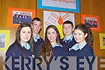 Seventeen schools from Kerry and Cork took part in Ceiluradh na nOg, in the Brandon Conference Centre yesterday (Wednesday). Pictured were: Orla Holly, Amanda Collins, Muireann Beasley, Daniel Ellis and Paul O'Connor.
