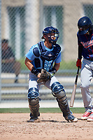 Tampa Bay Rays catcher Roberto Alvarez (91) during a Minor League Spring Training game against the Minnesota Twins on March 15, 2018 at CenturyLink Sports Complex in Fort Myers, Florida.  (Mike Janes/Four Seam Images)