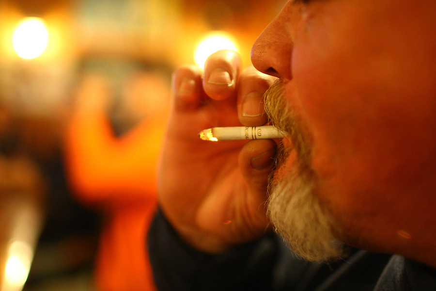 Smoking ban at bars and restaurants in Charlottesville and the state of virginia.