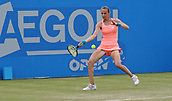 June 16th 2017, Nottingham, England; WTA Aegon Nottingham Open Tennis Tournament day 5;  Forehand from Magdalena Rybarikova of The Slovak Republic on her way to victory over Kristie Ahn of USA