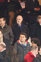 Spanish national coach's Vicente del Bosque during 2014-15 Spanish King Cup match between Atletico de Madrid and Barcelona at Vicente Calderon stadium in Madrid, Spain. January 28, 2015. (ALTERPHOTOS/Luis Fernandez) /nortephoto.com<br />