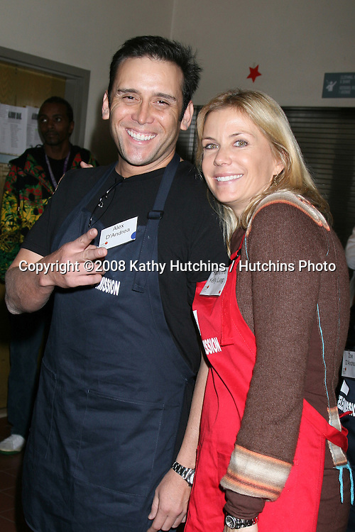 Katherine Kelly Lang & husband Alex D'Andrea at the LA Mission Thanksgivng Feeding of the Homeless in    Los Angeles, CA.November 26, 2008.©2008 Kathy Hutchins / Hutchins Photo....