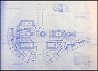 Original blueprints to Star Wars and Star Trek sets.