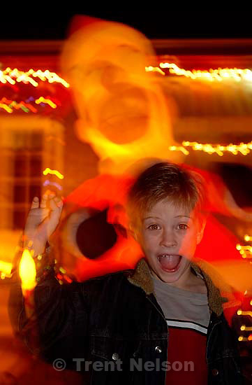 Nathaniel Nelson, family xmas christmas card<br />