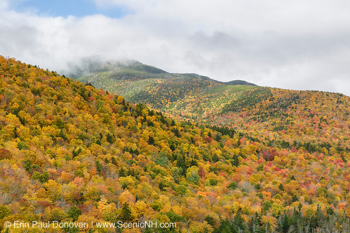 View from Elephant Head during the autumn months. Elephant Head is a scenic overlook along the Webster Jackson Trail in the White Mountains, New Hampshire USA.