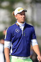 Marcel Siem (GER) walks off the 10th tee during Sunday's Final Round of the 2014 BMW Masters held at Lake Malaren, Shanghai, China. 2nd November 2014.<br /> Picture: Eoin Clarke www.golffile.ie