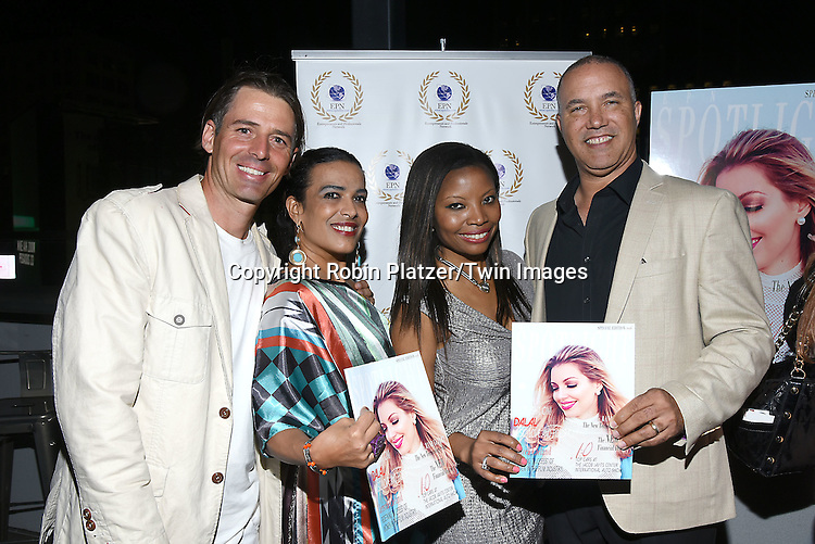 Thomas Grassberger, wife Chris Barreto, Maggie Delany, owner of EPN Spotlight Magazine  and Hubert Delany  attend the &quot;EPN Spotlight Magazine&quot;  launch party on June 10, 2016 at the Renaissance NY Hotel in New York, New York, USA. Dalal Bruchmann is the cover model.<br /> <br /> photo by Robin Platzer/Twin Images<br />  <br /> phone number 212-935-0770