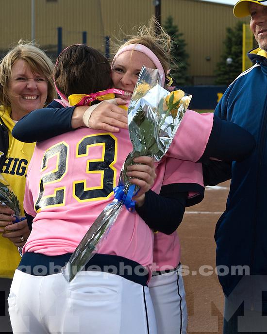 University of Michigan Softball (Women) 10-0 victory over Michigan State University at Alumni Field on 5/08/2010.