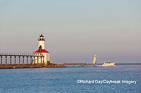 64795-02906 Michigan City Lighthouse & Pier Michigan City, MI