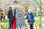 Sean Broderick & Eithne Neville ( Canon Neville's sister) pictured after unveiling the sculpture.