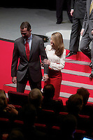 Spain's crown Prince Felipe and Princess Letizia during a ceremony to designate Spain Brand ambassadors. February 12, 2013. (ALTERPHOTOS/Alvaro Hernandez) /NortePhoto
