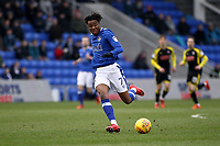 Oldham Athletic's Kundai Benyu (On loan from Celtic) during the Sky Bet League 1 match between Oldham Athletic and Rotherham United at Boundary Park, Oldham, England on 13 January 2018. Photo by Juel Miah / PRiME Media Images.