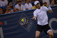 Washington, DC - August 5, 2015: Number 1 seed Andy Murray makes a forehand shot in a match against Teymuraz Gabashvii of Russia during the Citi Open tennis tournament at the FitzGerald Tennis Center in the District of Columbia August 5, 2015.  (Photo by Don Baxter/Media Images International)