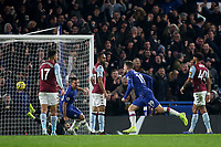 Mason Mount scores Chelsea's second goal and celebrates during Chelsea vs Aston Villa, Premier League Football at Stamford Bridge on 4th December 2019