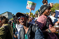 New York, USA - 2 May 2015- Marijuana advocates rally in Union Square to demand a legal market for cannabis in New York City and what they call the end to the use of drug law as a tool for social control and mass incarceration. ©Stacy Walsh Rosenstock