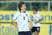Italy's Nicolo' Zaniolo celebrates after scoring the 2-0 goal <br /> Palermo 18-11-2019 Stadio Renzo Barbera <br /> UEFA European Championship 2020 qualifier group J <br /> Italy - Armenia <br /> Photo Carmelo Imbesi / Insidefoto
