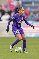 Bridgeview, IL, USA - Sunday, May 1, 2016: Orlando Pride defender Kristen Edmonds (12) during a regular season National Women's Soccer League match between the Chicago Red Stars and the Orlando Pride at Toyota Park. Chicago won 1-0.