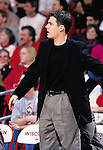 University of Wisconsin assistant coach Tony Bennett during the South Florida game at the Kohl Center in Madison, WI, on 12/30/00. Wisconsin beat South Florida in overtime, 63-61. (Photo by David Stluka)