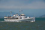 San Francisco: Excursion boat FDR's Potomac on San Francisco Bay.  Photo copyright Lee Foster. Photo # casanf104139.